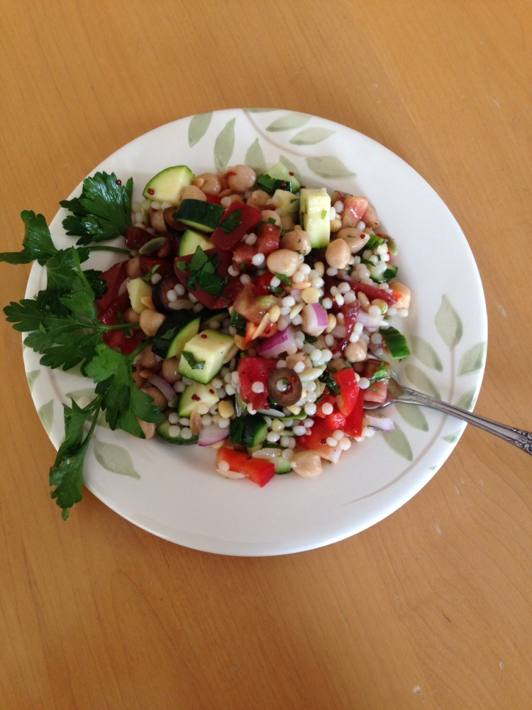 Israeli Couscous, Chickpea and Lemon Salad, Vegan (4/4)