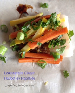 Lemongrass Ginger Halibut en Papillote