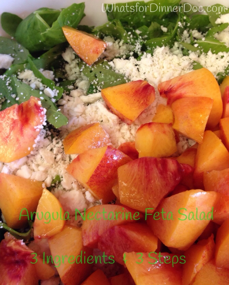 Make Time For Arugula Nectarine Feta Salad (1/5)