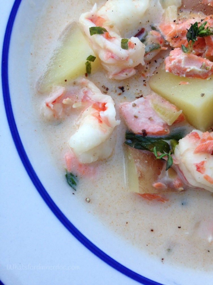 Smoked Salmon and Shrimp Chowder (3/3)