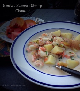 Smoked. Salmon and Shrimp chowder