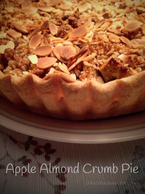 Apple Almond Crumb Pie
