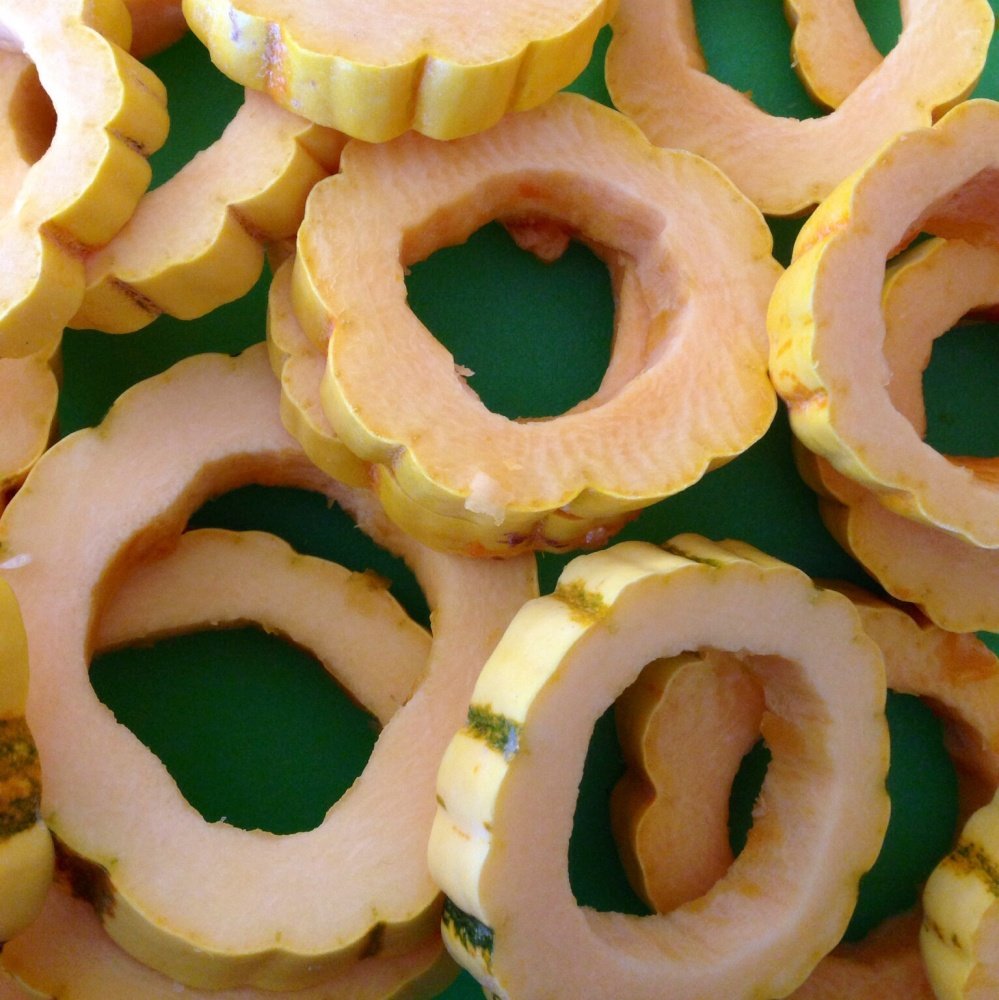 Caramelized Honey Squash Rings, Fiesta Friday (3/3)