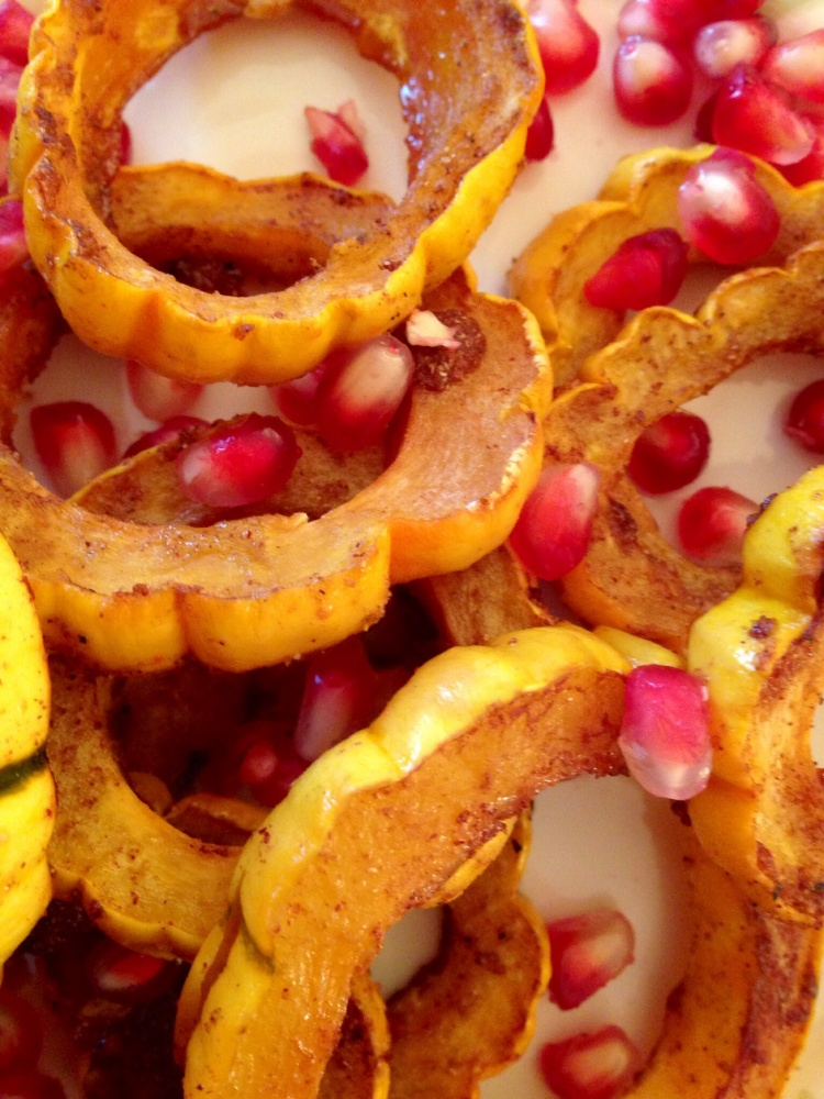 Caramelized Honey Squash Rings, Fiesta Friday (1/3)
