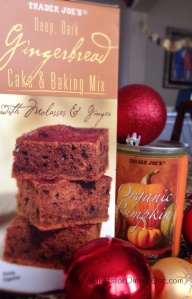Two Ingredient Low Fat Pumpkin Gingerbread