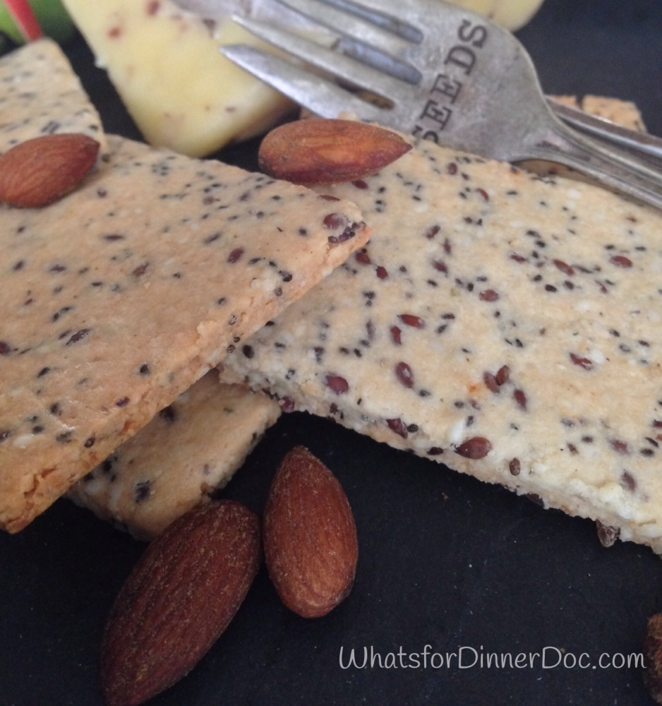 Grain Free Almond, Flax, And Chia Seed Crackers (3/6)