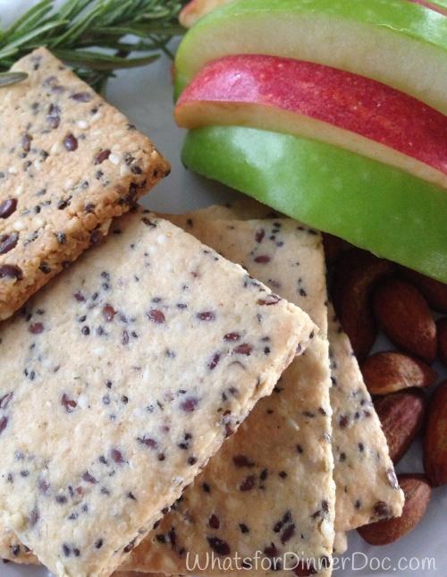 Gluten Free, almond, Flax, Chia. Seed crackers