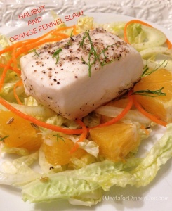 Halibut and Orange Fennel Slaw