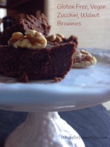 Gluten Free, Vegan, zucchini, walnut brownies