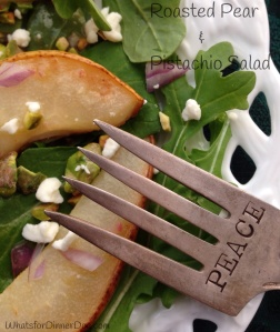 Roasted Pear and Pistachio Salad