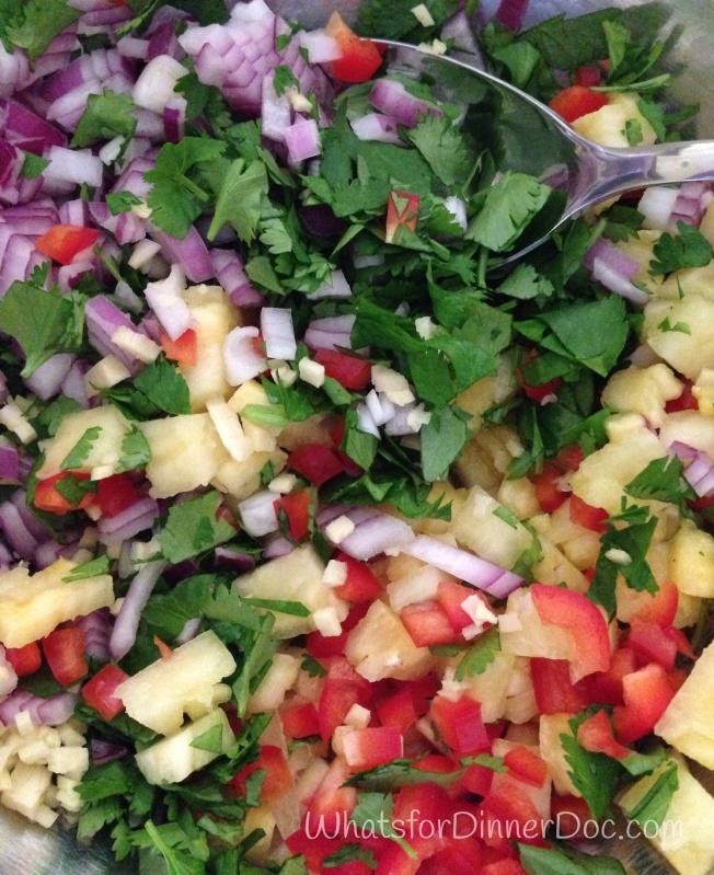 Caramelized Pineapple Salsa Mahi Tacos