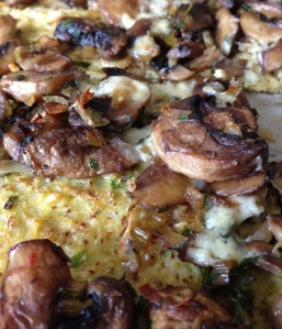 Cauliflower Crust Mushroom Pizza