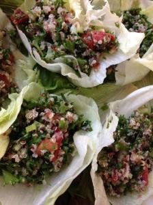 Quinoa Tabbouleh Lettuce Cups