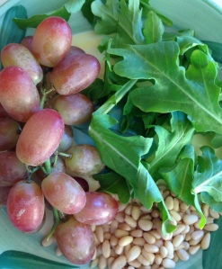 Roasted Grape Arugula Salad