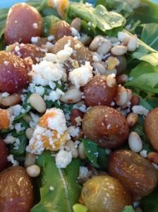 Roasted Grape Arugula Salad