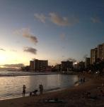 Waikiki Beach at Dusk