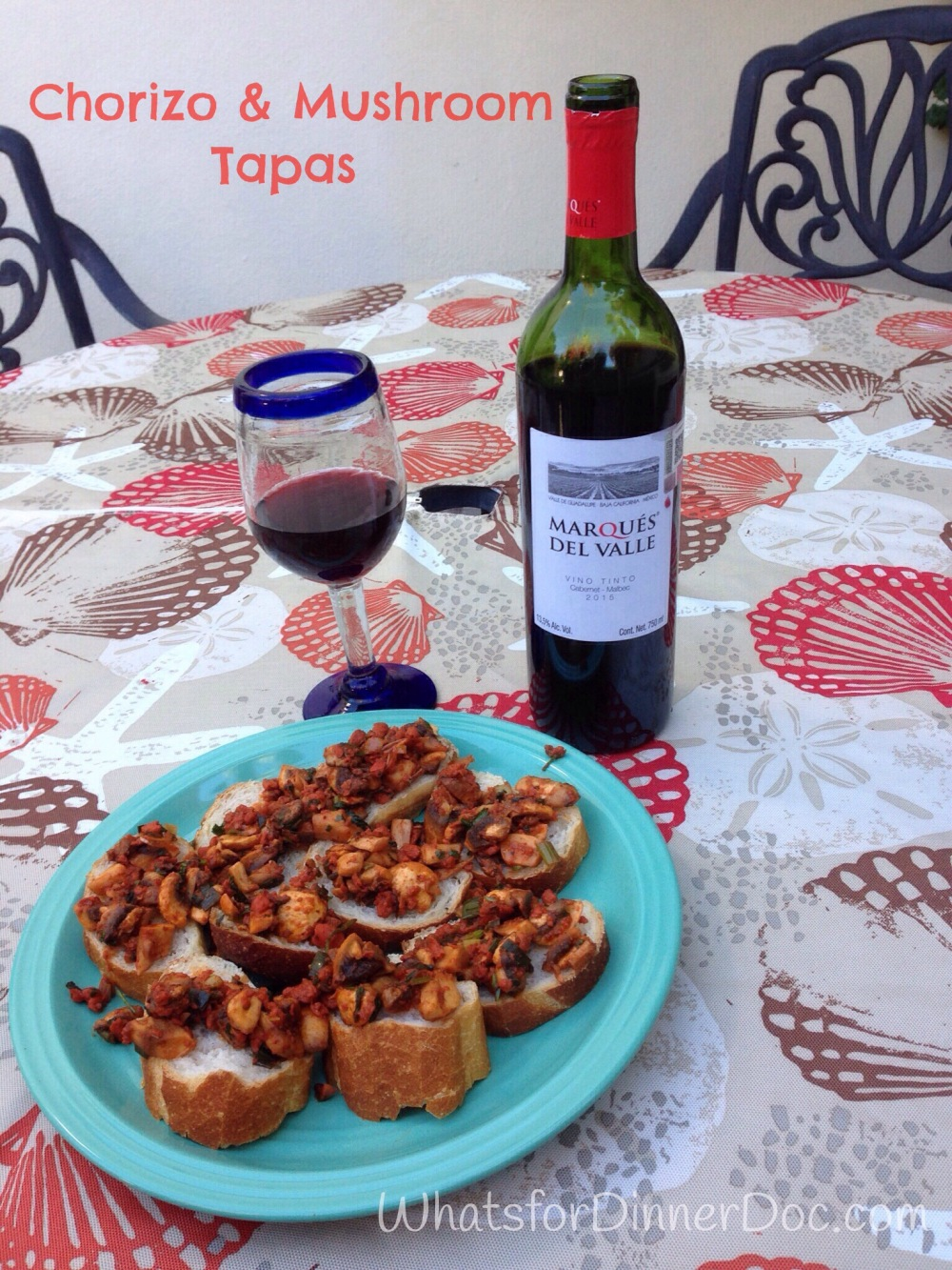 Chorizo and Mushroom Tapas