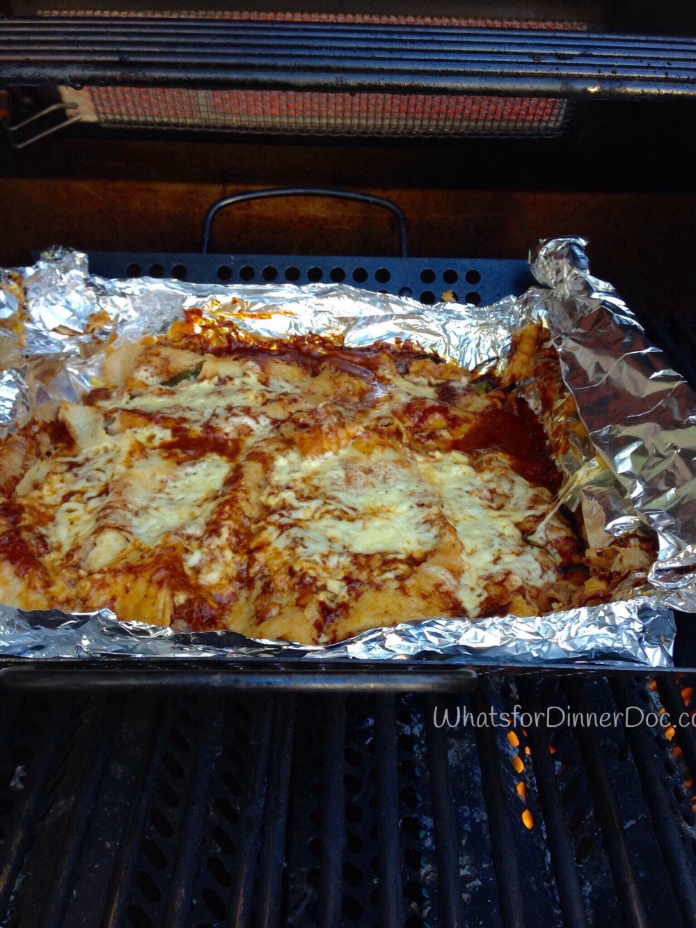 Grilled Poblano Cheese Enchiladas
