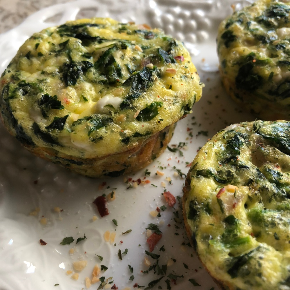 Spanakopita Mini Frittatas, South Beach