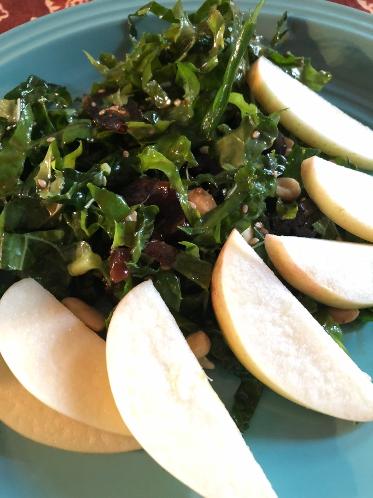 Kale, date, apple salad